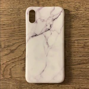 iPhone XR White Marble Hard PVC Case